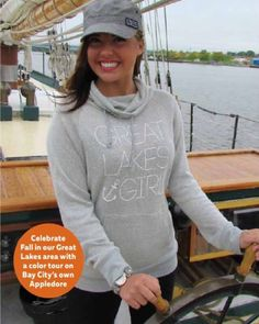 Check out these Great Lakes Girl knit hoodies! www.livnfresh.com