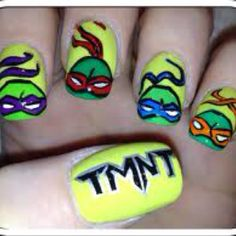 Ninja turtles :) Loved them as a kid! Now to find someone talented enough to paint them for halloween!