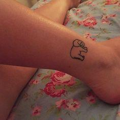 Cute Small Elephant Tattoo on Foot Small Elephant, Foot Tattoos, Cute, Kawaii