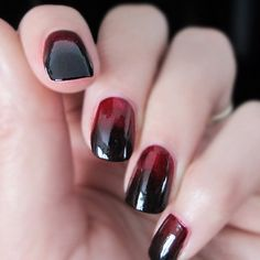 Vampy Ombre nails from What I Wore's Instagram