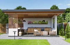 Backyard Pavilion, Backyard Patio Designs, Garden Design, House Design, Outdoor Shade, Dream House Exterior, Diy Garden Decor, Home Deco, House Elevation