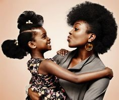 Awesome - African American mother and child #natural #hair