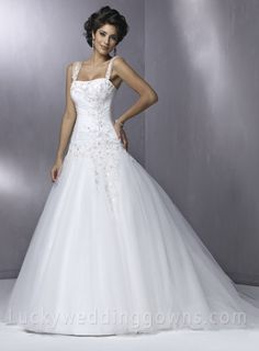 Empire Square Court Trains Sleeveless Lace Wedding Dress