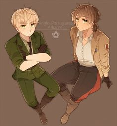 Axis Powers: Hetalia, United Kingdom, Portugal