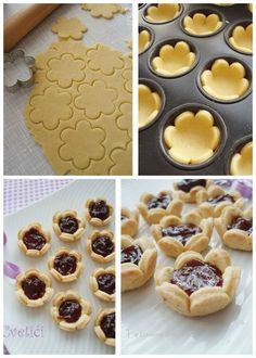 Baking Recipes, Cookie Recipes, Dessert Recipes, Biscuit Recipe, Mini Desserts, Creative Food, Christmas Baking, Cake Cookies, Heart Cookies