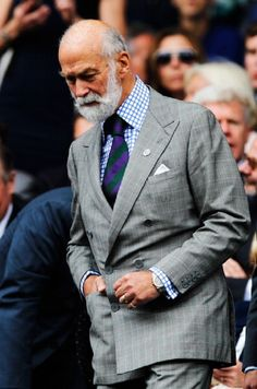 Prince Michael of Kent in the Royal Box on Centre Court before the Gentlemen's Singles Final match between Roger Federer of Switzerland and Novak Djokovic of Serbia on day thirteen of the Wimbledon Lawn Tennis Championships, 06.07.2014 in London, England.