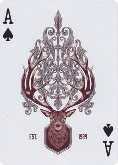 Born from the wild forests, rolling hills, and snow-capped mountains of Northern California, the Antler Playing Cards showcase the majestic beauty of the great