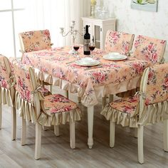 Tablecloth Floral Rectangular Linen Covers Fabric Chair Decoration Mat Crochet Doily Plaid Picnic Table Cloth DD0628 Chair Fabric, Chair Pads, Dining Table Cloth, Muebles Living, Shabby Chic, Rustic Chic, Kitchen Curtains, Table Covers, Comforter Sets