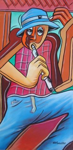 flute-player by Moses Masoko