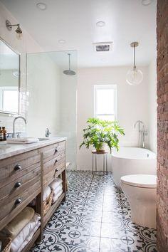Bathroom decor for the bathroom renovation. Learn bathroom organization, master bathroom decor tips, master bathroom tile suggestions, bathroom paint colors, and much more. Bathroom Renos, Bathroom Interior, Remodel Bathroom, Bathroom Remodeling, White Bathroom, Bathroom Mirrors, Bathroom Cabinets, Remodeling Ideas, Bathroom Small