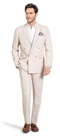 Beige Double breasted linen Suit: http://www.tailor4less.com/en-us/men/suits/3155-beige-double-breasted-linen-suit