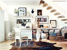 office nook under the stairs in Stephen Shubel's SF loft
