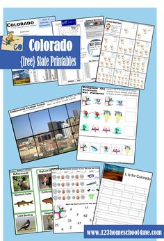free #colorado worksheet for kids Preschool - 5th Grade to learn about Colorado in a fun, engaging way. Great for #homeschool #socialstudies or #roadtrips to learn about state visiting