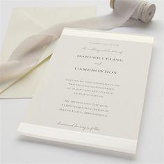 Simple Ivory Stripes & Dots Wedding Invitation Kit