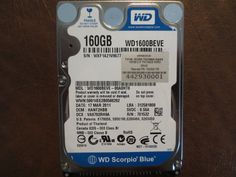 Western Digital WD1600BEVE-00A0HT0 DCM:HANT2HBB 160gb IDE/ATA - Effective Electronics
