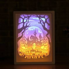 por Halloween lamp Halloween props decorations supplies home party decor Halloween vintage castle night lamp Navigatee Halloween portable lantern fashion 4 styles LED lantern Halloween lantern