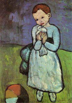 Niño con paloma, 1901 - Picasso