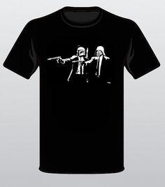 Star Wars Darth Vader and Boba Fett Pulp Fiction Fun by Slavitees, $12.99