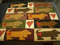 Material Mary: Weiner Dog Wonderland...   (I really like this idea.  My daughter wants a Dinosaur quilt.  Perhaps I can use idea but replace the dogs with dinosaurs?)