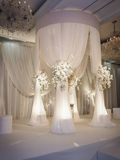 This would be pretty over a bed, not just for a wedding lol