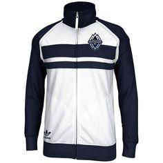 adidas Vancouver Whitecaps FC Full Zip Track Jacket - White/Navy Blue