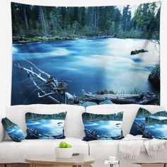 You'll love the Landscape Beautiful Blue River in Forest Tapestry and Wall Hanging at Wayfair - Great Deals on all Décor & Pillows products with Free Shipping on most stuff, even the big stuff.