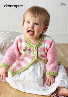 Nunca mais fiz tricô, mas continuo me encantando com os trabalhos que vejo - Cardigan in Deramores Baby DK (1006) | Deramores