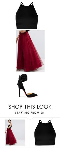 """""""Untitled #1408"""" by katieehatesallofyou on Polyvore featuring ASOS, Boohoo and Christian Louboutin"""