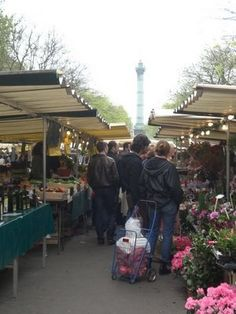 Richard Lenoir market, the mecca of markets in Paris.