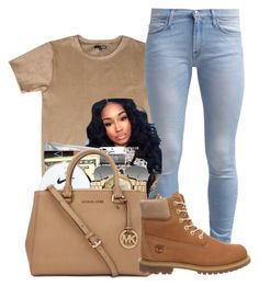 """"""""""" by bvsedg0d ❤ liked on Polyvore featuring 7 For All Mankind, Ray-Ban and Timberland"""