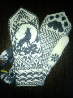 Mittens Pattern, Knit Mittens, Knitted Gloves, Knitting Socks, Yarn Projects, Knitting Projects, Knitting Patterns, Wrist Warmers, Fair Isle Knitting