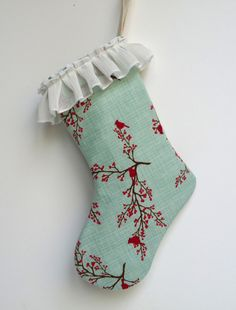 Stocking  Christmas Stocking  Mini Stocking  Gift Bag by GabryRoad, $10.00