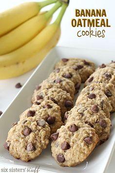 Banana Oatmeal Cookies on SixSistersStuff