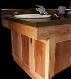 fine woodworking bathroom cabinets | Kitchens, Baths, Library & other custom built-ins
