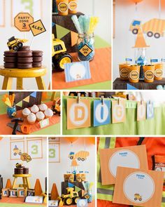 This collection has been featured in Hostess with the Mostess here: http://blog.hwtm.com/2014/07/party-of-5-construction-birthday-barnyard-bash-princess-party-monster-truck-birthday-twins-frozen-party/  And Karas Party Ideas here: http://www.karaspartyideas.com/2014/07/construction-themed-3rd-birthday-party-3.html  --------------------------------------------------------------  Invitations that match this collection can be found here…