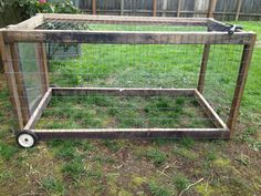 Chicken Coop - Cheap, portable chicken tractor out of recycled wood and plexi access panel. For letting the girls move about the yard. Building a chicken coop does not have to be tricky nor does it have to set you back a ton of scratch.