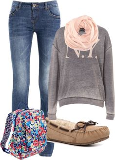 """""""Cute Comfy School Outfit"""" by caitlinmerris on Polyvore"""