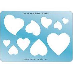 Jewelry Shape Template - Hearts