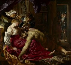 Peter Paul Rubens(1577-1640)-BAROGUE-(Samson and Delilah_1609-1610)Oil on wood panel(185x205cm)_National Gallery London