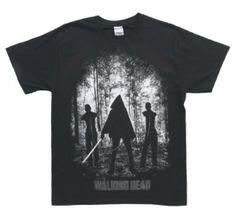 The Walking Dead Micheonne Walkers Mens Black Tee | LVgrind