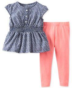 Carter's Baby Girls' 2-Piece Top  Leggings Set - Kids Newborn Shop - Macy's