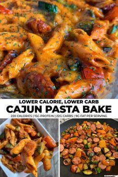 Low Calorie Recipes 856035841650297795 - You'll love this super simple recipe for lower carb pasta with chopped zucchini and bell pepper, turkey cheddar sausage, and a creamy cajun sauce. Each serving has just 220 calories! Source by masonfitdotcom Sausage Pasta Bake, Cajun Sausage, Sausage Recipes, Cooking Recipes, Turkey Sausage, Potato Recipes, Vegetable Recipes, Pasta Bake Recipes, Cooking 101