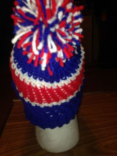 Colorful Toboggans Hand-knitted Hat, Fits Most #NA