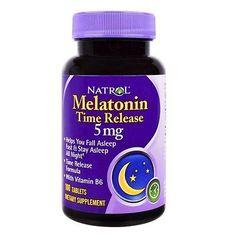 Natrol, Melatonin, Time Release, 5 mg, 100 Tablets