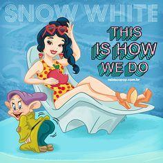 Ilustrador transforma princesas da Disney em cantoras do pop Branca de Neve como Katy Perry é muito amor! <3