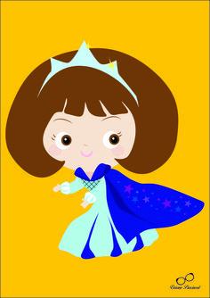 Princesinha para uma festa de aniversário #ilustração #illustration #VivianePriscinval