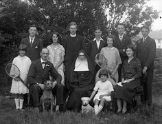 August 17, 1927 This is the O'Connor family, Tramore, Co. Waterford. Peter O'Connor on 15 August 1901,  jumped 24ft 11¾ins (7.61m), a World record in long jump that lasted 20 years. His Irish record in long jump lasted 89 years. Peter O'Connor won a silver medal at the Athens Olympics in 1906, but did not like being regarded as a British athlete. He climbed a flagpole and raised an Erin go Bragh flag. In sporting retirement, he became Vice-President of the Incorporated Law Society of…