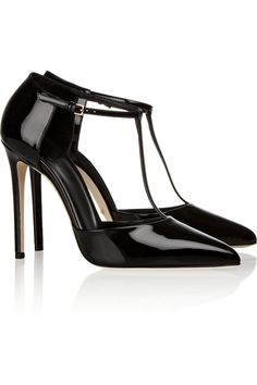Gucci Patent Leather Tbar Pumps Clic And Timeless