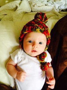 Baby Hat - With Puff Balls and Ear Flaps