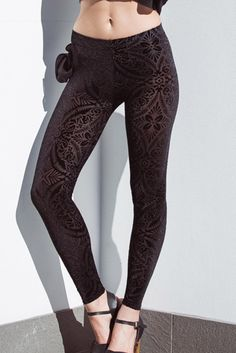 Burned Velvet Leggings – Black Milk Clothing